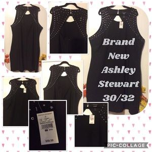 Ashley Stewart Sexy Black Stud Dress